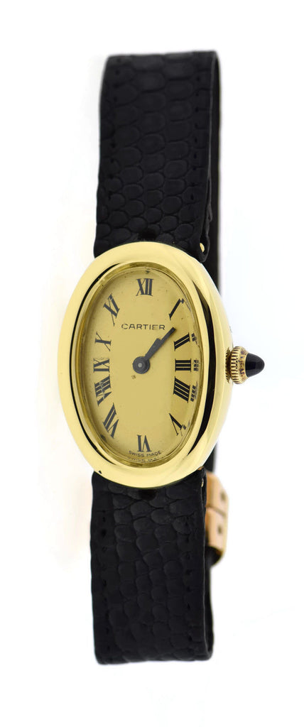 Cartier Baignoire Manual Wind 18K Yellow Gold Watch 7743-1 Pre Owned
