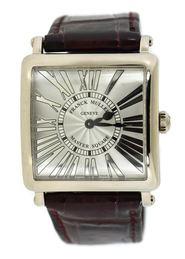 Franck Muller Master Square Relief 18K White Gold Watch 6002 M QZ