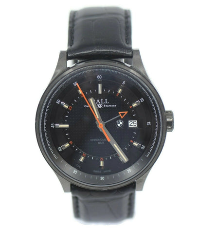 Ball For BMW GMT Black Stainless Steel Watch GM3010C