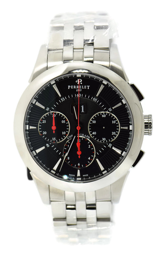 Perrelet Big Date Chronograph Stainless Steel Watch A1008/I
