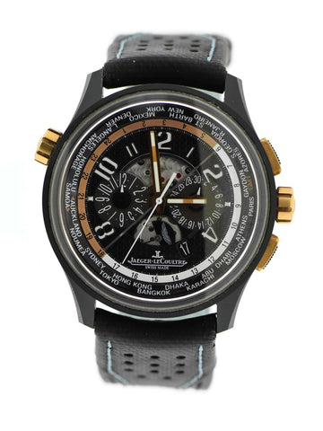 Jaeger LeCoultre Amvox5 World Chronograph 18K Rose Gold/Ceramic Watch Q193L471