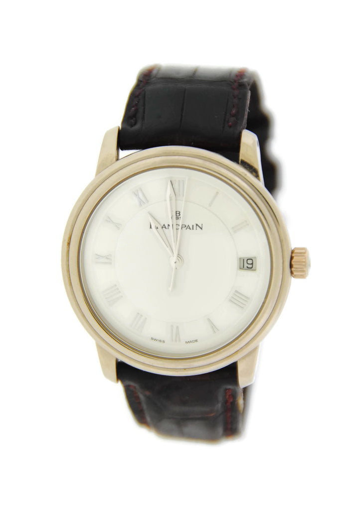 Blancpain Villeret Ultra Slim Automatic 18K White Gold Watch 1158.1527 Pre Owned