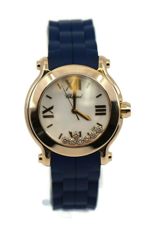 Chopard Happy Sport Diamond 18K Rose Gold Watch 277471