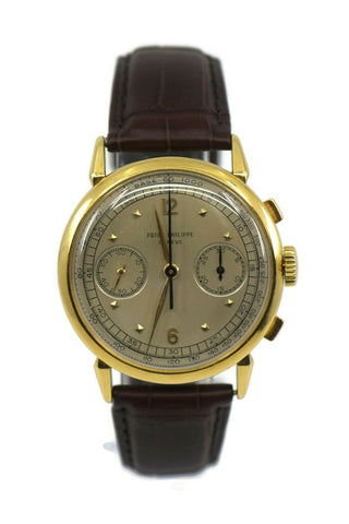 Patek Philippe Vintage Chronograph 18K Yellow Gold Watch 1579