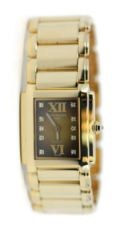 Patek Philippe Twenty 4 Diamond Tiffany & Co 18K Yellow Gold Watch 4907/1J-010