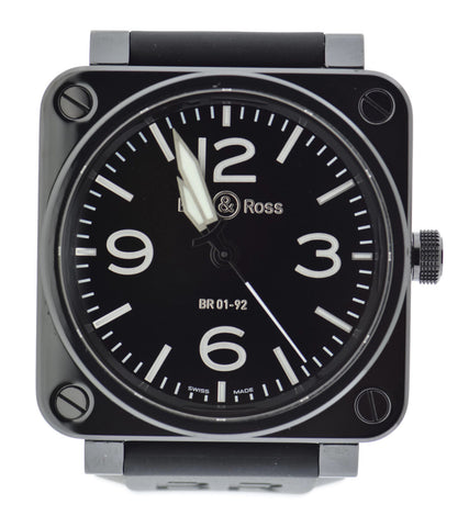 Bell & Ross Aviation Black Ceramic Watch BR 01-92