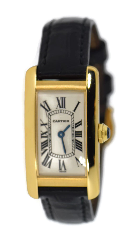 Cartier Tank Americaine Small 18K Yellow Gold Watch W2601556 Pre Owned