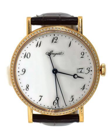 Breguet Classique Diamond 18K Rose Gold Watch 5178 Pre Owned