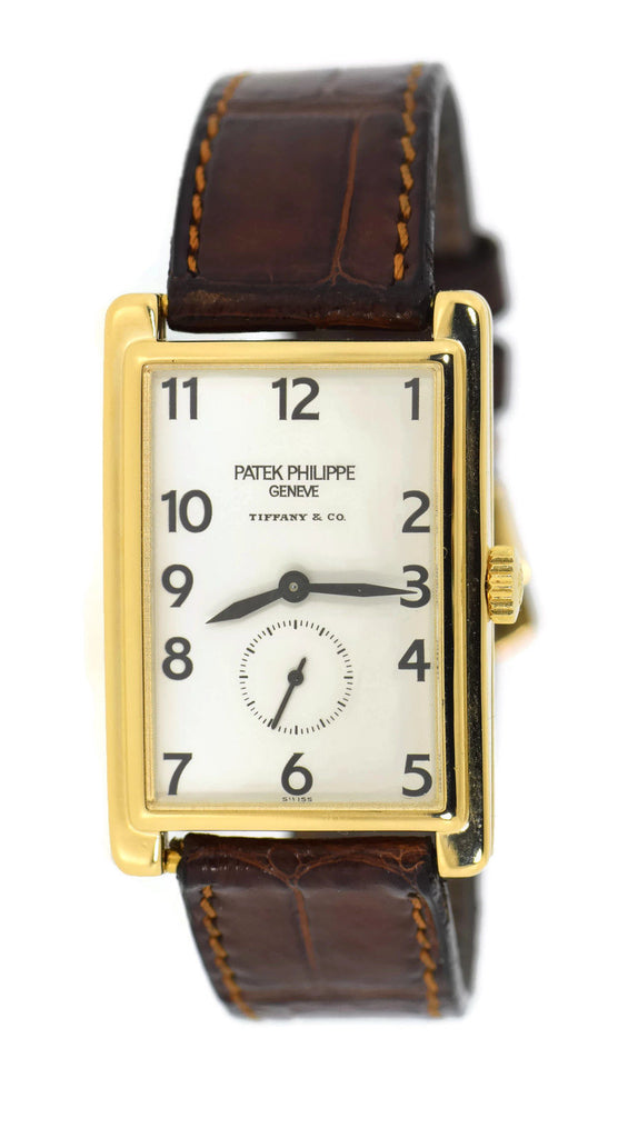 Patek Phlippe Gondolo Tiffany & Co 18K Yellow Gold Watch 5009J Pre Owned