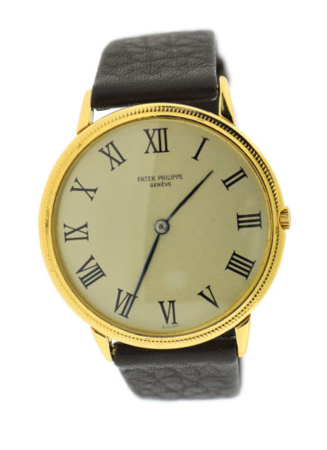 Patek Philippe Calatrava 18K Yellow Gold Watch 3758J Pre Owned