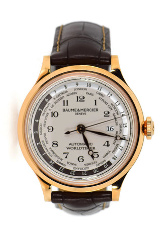 Baume & Mercier Capeland World Timer 18K Rose Gold Watch MOA10107