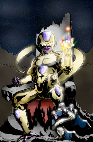 Frieza with the Infinity Gauntlet Art Print