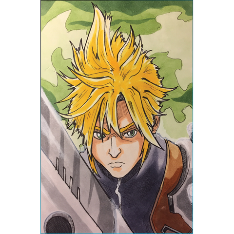 Final Fantasy VII Cloud Strife Art Print (Retiring)