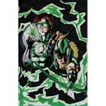 Green Lantern and Green Arrow Postcard Print