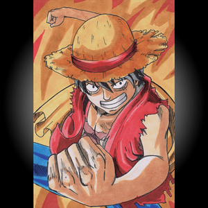 One Piece Luffy Print (Postcard)