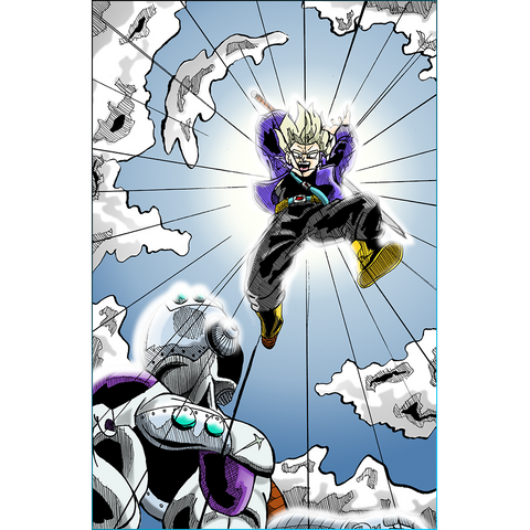 Dragon Ball Z: Trunks VS Frieza Print