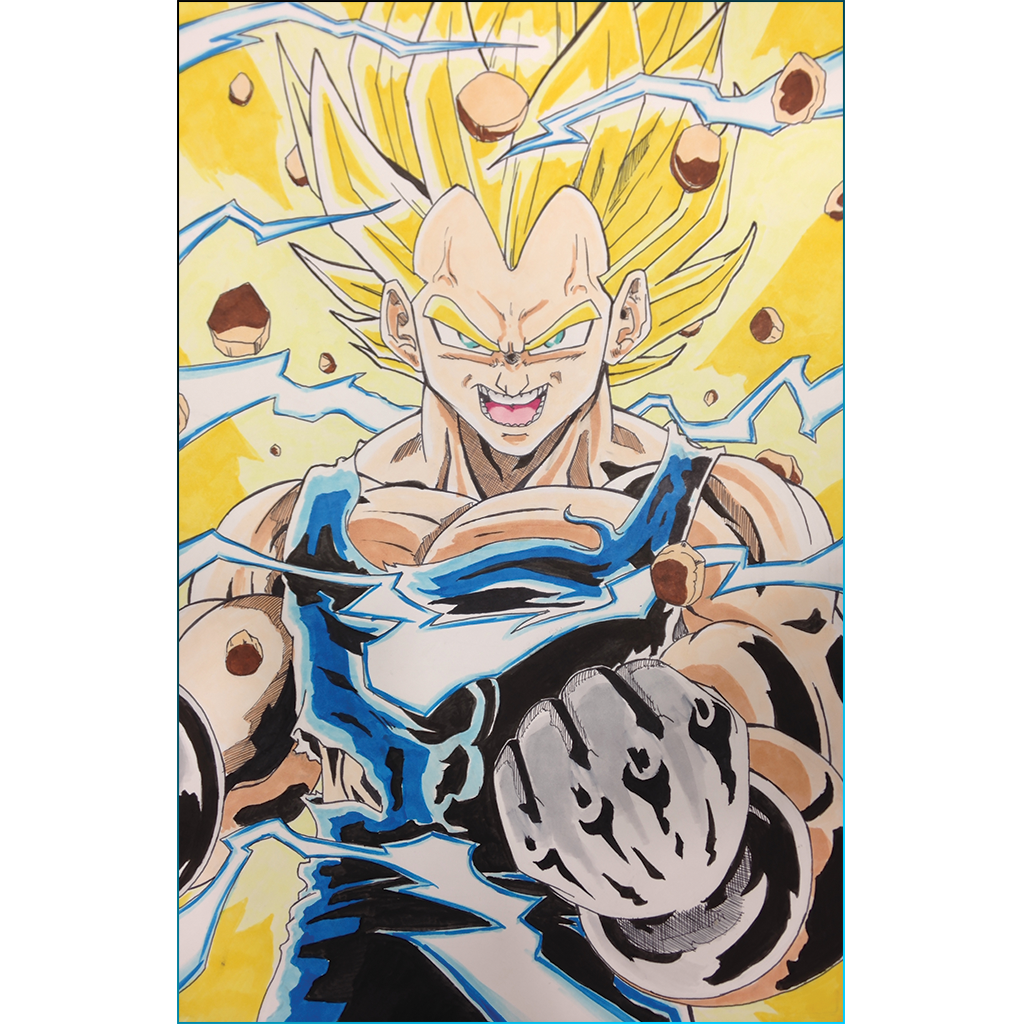 Dragon Ball Z Super Saiyan Vegeta Print