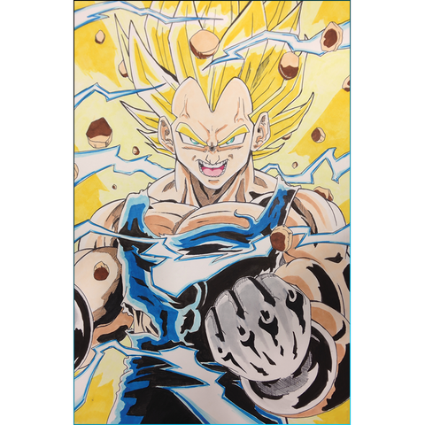 Dragon Ball Z: Super Saiyan Vegeta Print