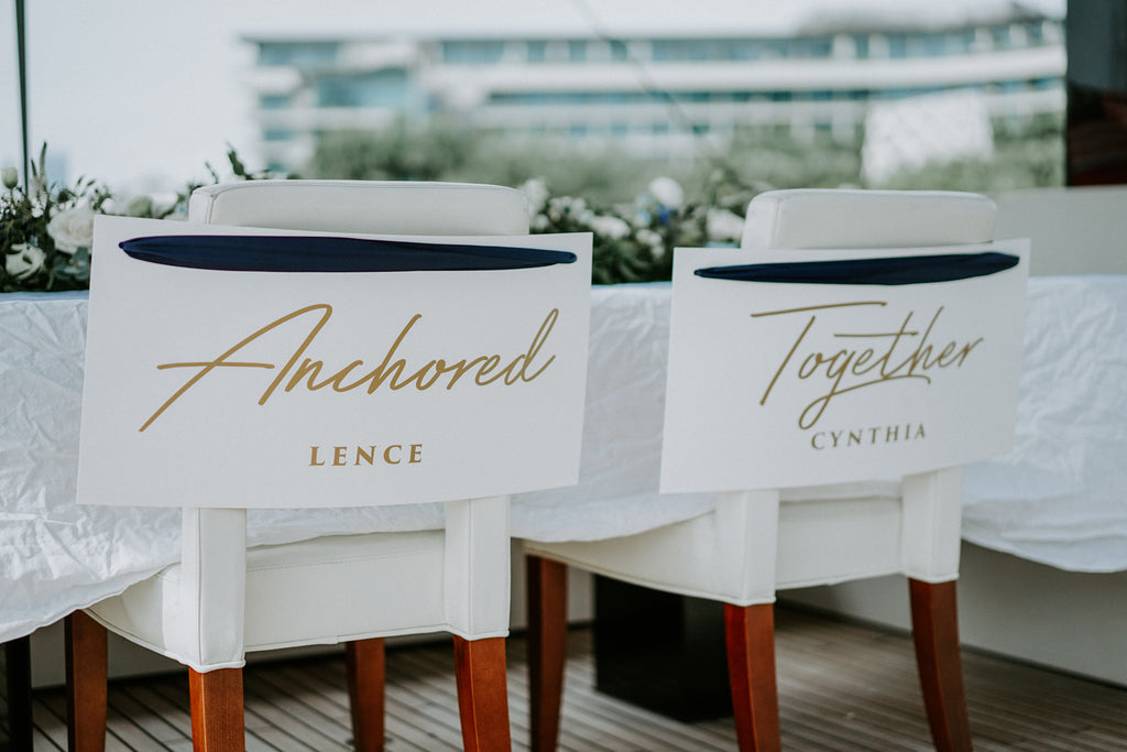 White & Blue Wedding @ Eaglewings Yacht Charter