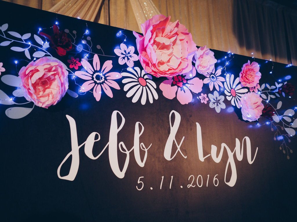 Chalkboard & Paper Flower Wedding @ Swissotel