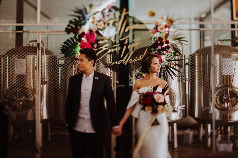 Moody Tropical Shoot @ Little Island Brewing Co with SingaporeBrides