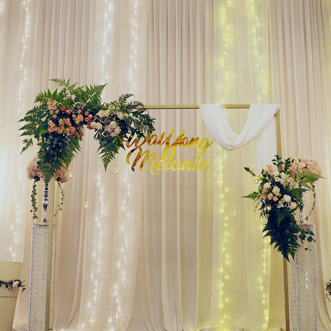 Wedding services floral arch singapore bucket full of roses wedding decor izmirmasajfo