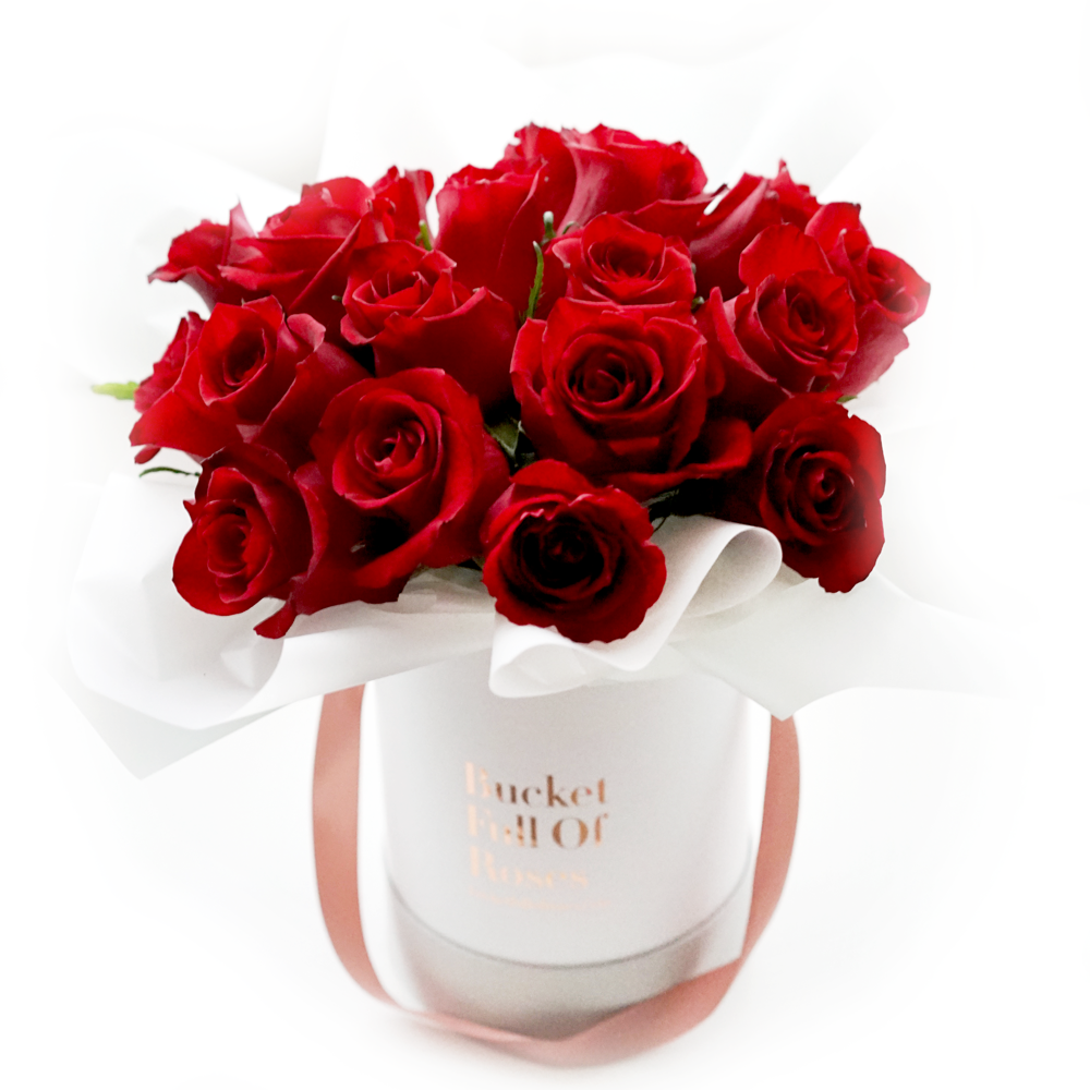 Classic Roses Bucket - Red