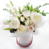 Classic White Floral Bucket