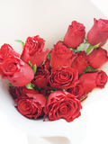 Classic Red Roses Flower Bouquet