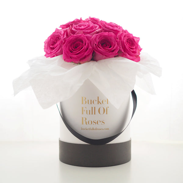 Bucket Full Of Roses Online Singapore Flowers Delivery