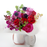 Jewel Tone Floral Bucket
