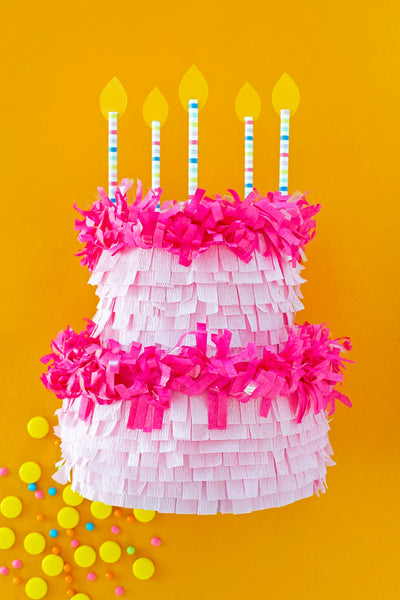 BIRTHDAY CAKE PINATA! DIY