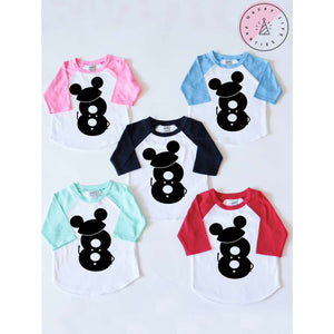 MR. MOUSE EIGHT RAGLAN