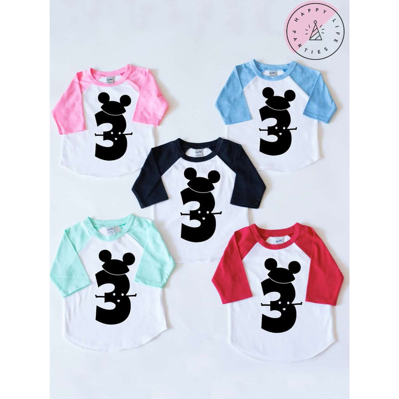 MR MOUSE THREE RAGLAN