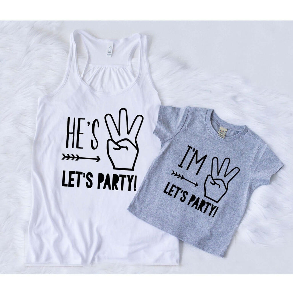 IM THREE LETS PARTY GRAY BIRTHDAY SET