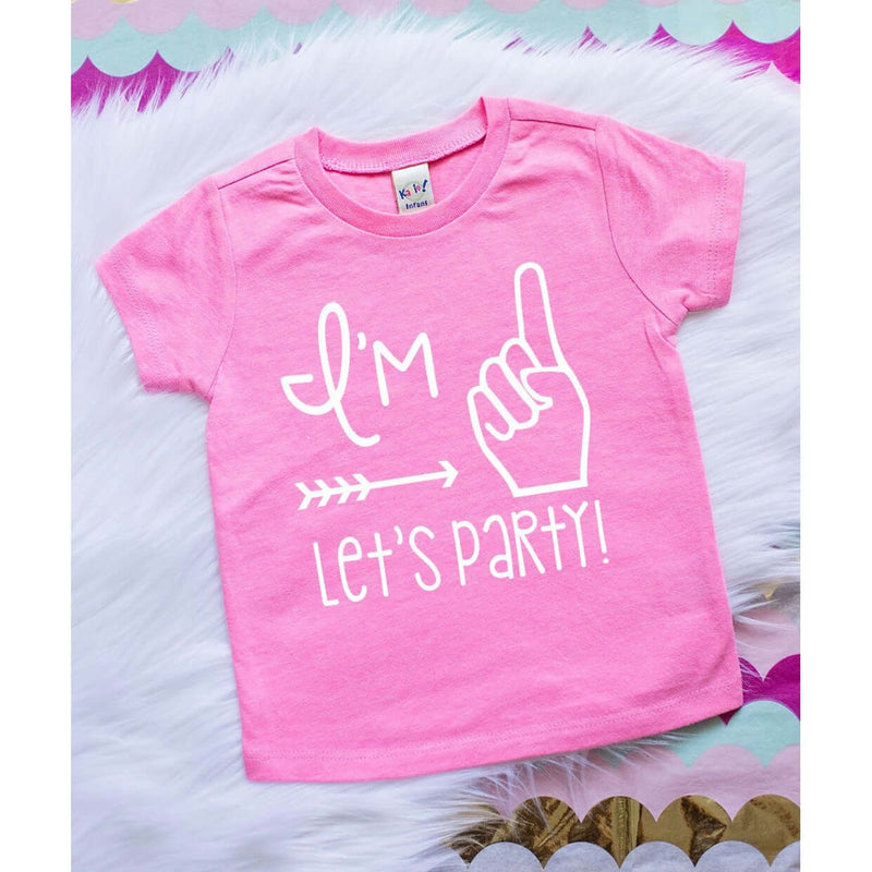 Girls ONE party tee