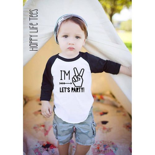 I'M TWO LETS PARTY RAGLAN