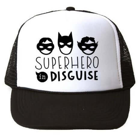 SUPERHERO IN DISGUISE TRUCKER HAT