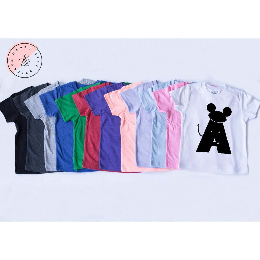 MOUSE LETTER TEES