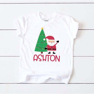 Santa's Coming customizable tee