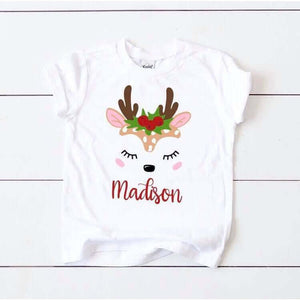 Holly jolly deer customizable tee