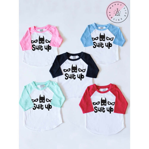 SUIT UP SUPERHERO - Raglan