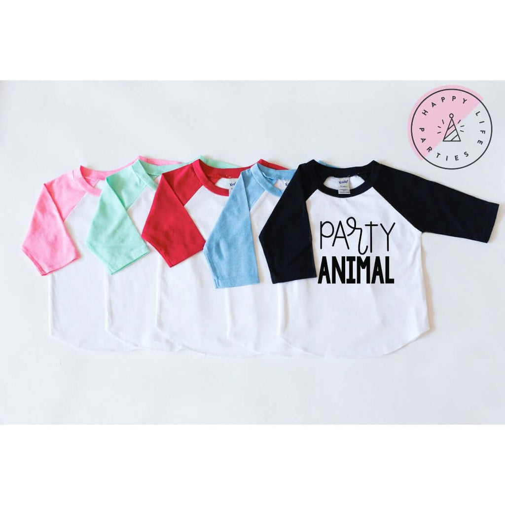 Party Animal Text Raglan