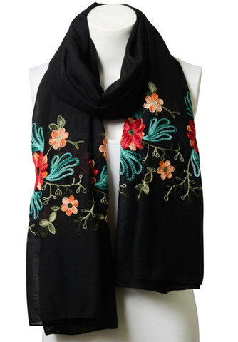 Beautiful Black Floral Print Lightweight Boho