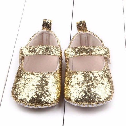 Baby Girls Gold Bling Shoes