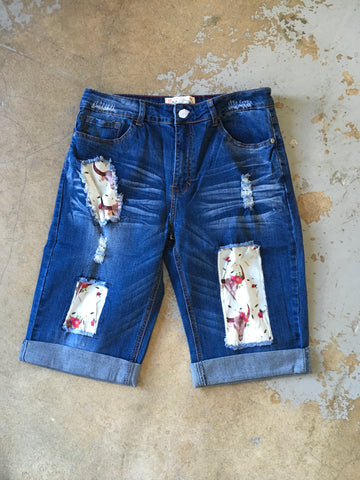 Steer's and Roses Bermuda Shorts