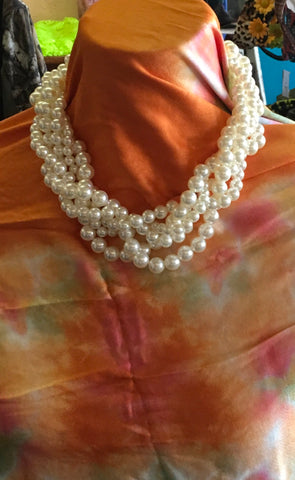 Braided Faux Pearls with earrings