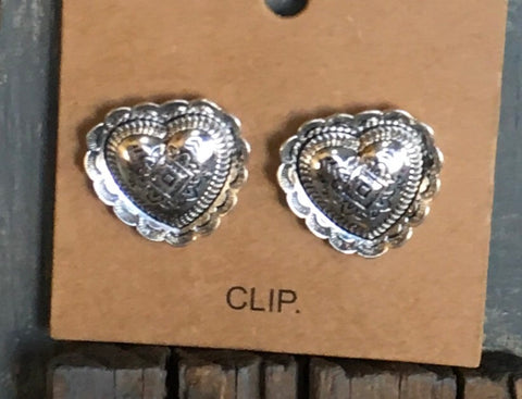 Etched Heart Clips