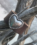 Heart and Leather cuff