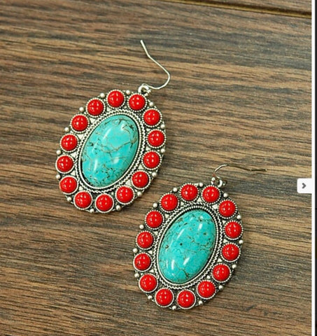 Faux coral and turquoise